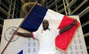 Teddy Riner, porte-drapeau des sportifs français aux Jeux olympiques de Rio, le 24 juillet 2016.