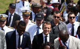 Le président de la République Emmanuel Macron, en visite en Guyane, le 26 octobre 2017.