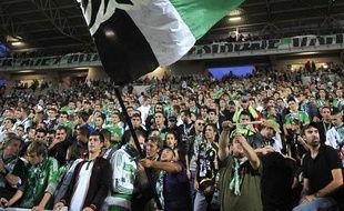 les supporters de Saint-Etienne lors d'un match contre Bastia, le 29 septembre 2013.