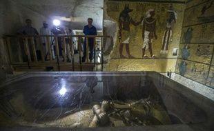 Le cercueil doré du pharaon Toutankhamon, à Louxor en Egypte, le 29 septembre 2015