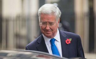Sir Michael Fallon à Londres le 31 octobre 2017