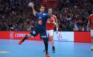 Mickaël Guigou, le spécialiste penalties de l'équipe de France de handball.