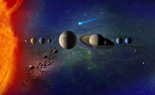 Une illustration du système solaire.