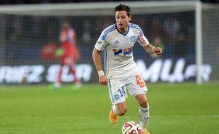 Florian Thauvin lors du match entre le PSG et l'OM le 9 novembre 2014.