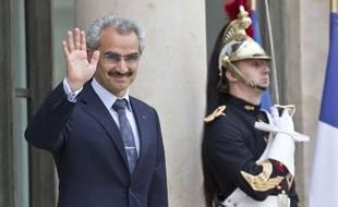 Le prince Al-Walid ben Talal lors d'une visite à l'Elysée, en septembre 2016.