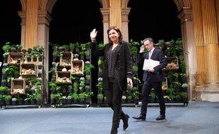 Anne Hidalgo ce vendredi 10 janvier 2020, lors de ses vœux.