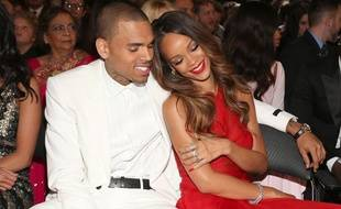 Chris brown et Rihanna à la cérémonie des Grammy Awards le 10 février 2013 à Los Angeles.