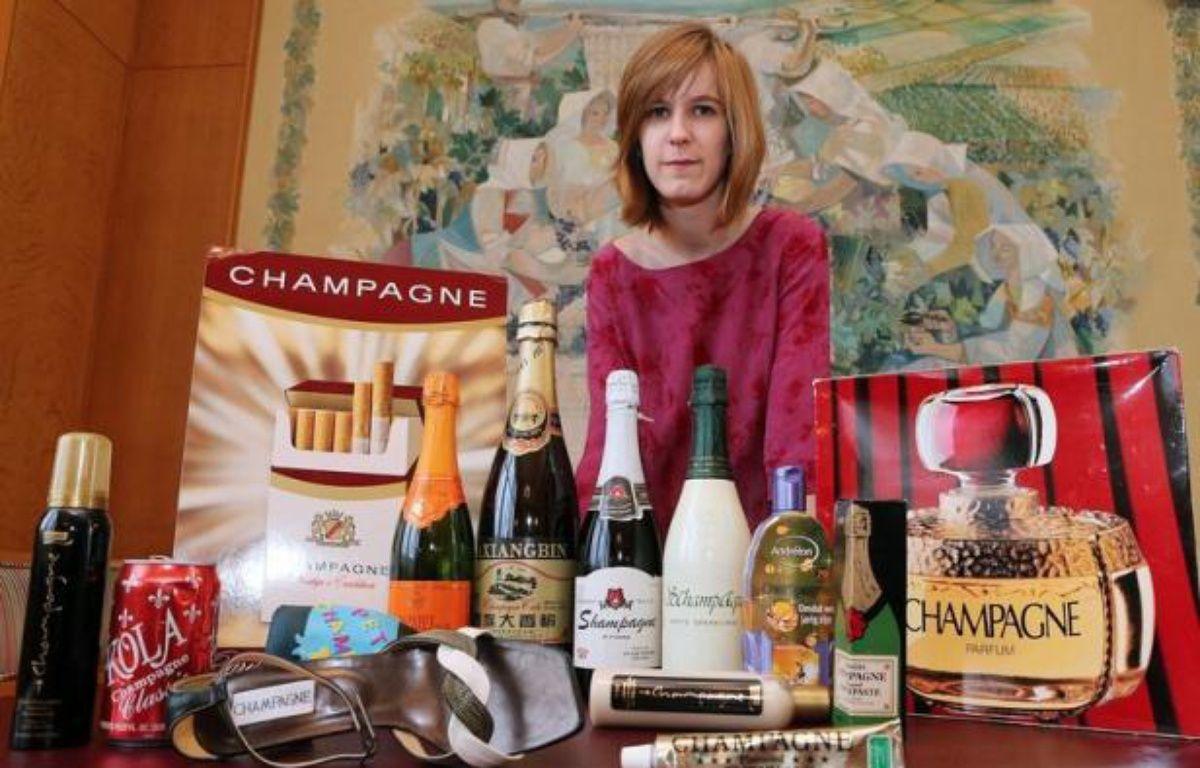 """""""Il n'est champagne que de Champagne"""", l'adage a force de loi au Comité interprofessionnel des vins de champagne (CIVC) à Epernay (Marne), qui défend son précieux et luxueux label soumis chaque année à des centaines de tentatives d'usurpation ou de détournement de notoriété. – Francois Nascimbeni afp.com"""
