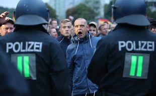 Des manifestants d'extrême-droite à Chemnitz, le 2 septembre 2018