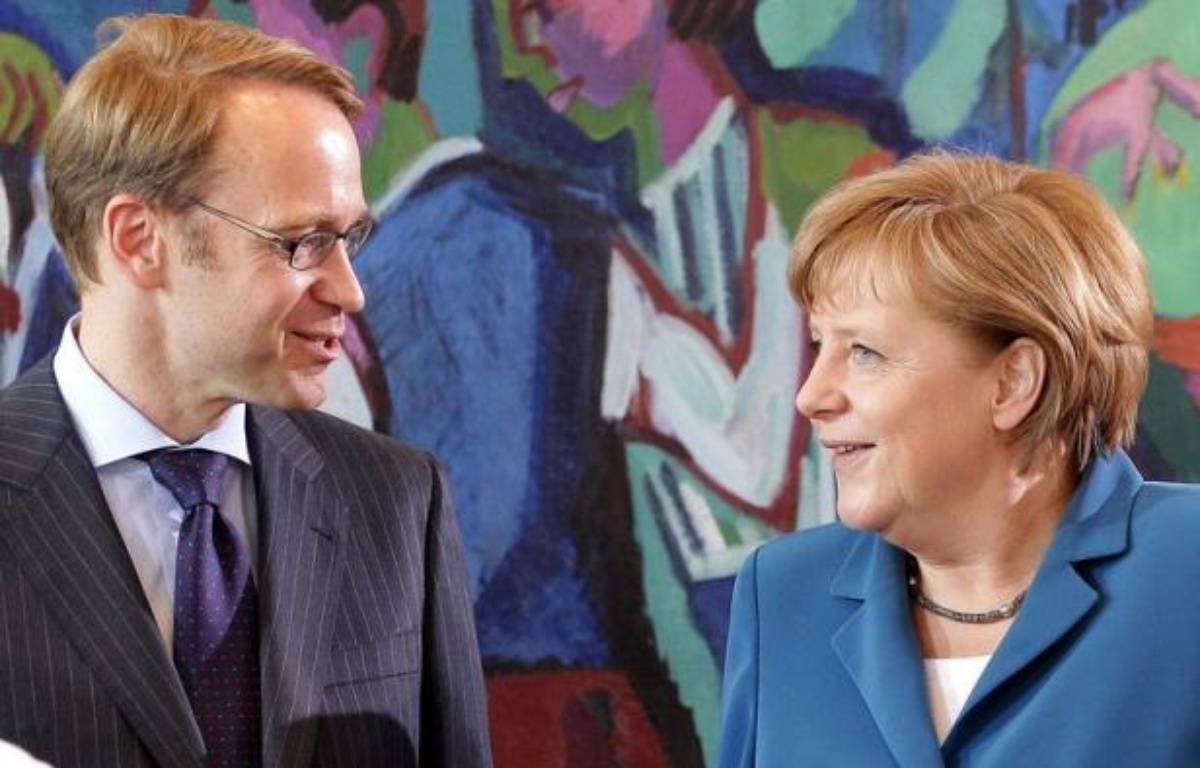 Jens Weidmann, le président de la Banque centrale allemande (Bundesbank), a déjà songé ouvertement à démissionner en raison de son opposition au programme de rachats d'obligations de la BCE, affirme le quotidien Bild-Zeitung vendredi citant des sources financières. – Wolfgang Kumm afp.com
