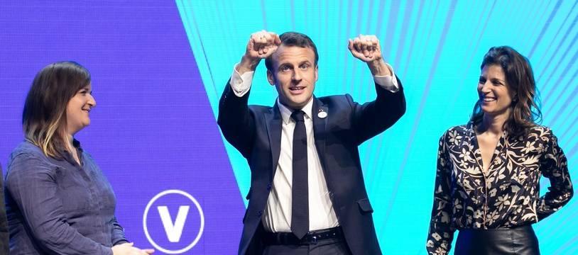 Emmanuel Macron au salon VivaTech le 16 mai 2019.