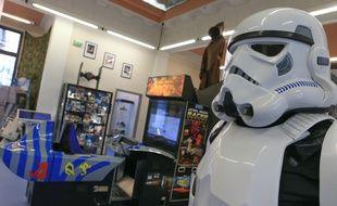 Exposition au Pixel Museum à Schiltigheim sur les jeux vidéo Star Wars. Strasbourg le 12 décembre 2017.
