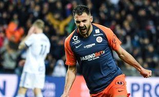 Gaëtan Laborde, l'attaquant de Montpellier.