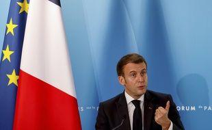 Emmanuel Macron à l'Elysée, le 12 novembre 2020. (illustration)