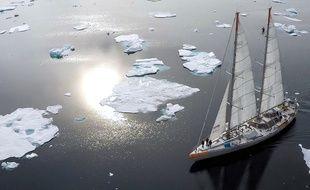 La goélette d'exploration scientifique Tara est de retour du Groenland.