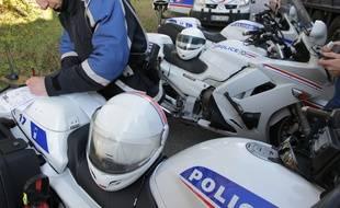 Strasbourg: En essayant de fuir sur un scooter volé, il blesse un policier à moto (Illustration)