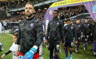 Baptiste Reynet, le gardien du TFC, avant le match de Ligue 1 contre l'Olympique de Marseille, le 24 novembre 2019.