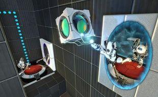 Dans le mode coopération de «Portal 2», chaque joueur incarne un robot.