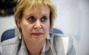 La juge Isabelle Prévost-Desprez, le 2 septembre 2010 dans son bureau à Nanterre
