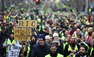 84.000 personnes ont défilé samedi 12 janvier 2019 en France contre la politique sociale et fiscale du gouvernement