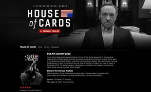 La série «House of Cards», sur Netflix.