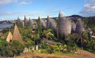 L'emblématique centre culturel Tjibaou, lieu consacré au patrimoine culturel kanak, à Nouméa, en Nouvelle-Calédonie.