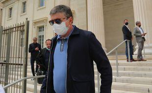Alexandre Guérini à la sortie du tribunal de Marseille, le 28 mai 2021