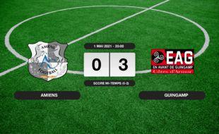 Ligue 2, 36ème journée: Guingamp vainqueur d'Amiens 3 à 0 au stade de la Licorne