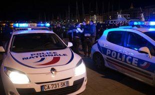 Manifestation de policiers dans les rues de Marseille (illustration).