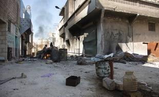 Dans les quartiers rebelles d'Alep, le 10 septembre 2016.