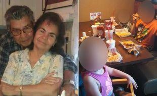 Manuel et Belia Saldivar et quatre de leurs arrières-petits-enfants sont morts noyés dans la tempête Harvey au Texas, le 27 août 2017.