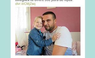 Ce père de famille a bénéficié de la générosité de ses collègues, qui lui ont offert 350 jours de RTT pour rester auprès de sa fille malade.