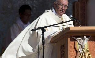 Le pape célèbre une messe à Santa Cruz, en Bolivie, le 9 juillet 2015.