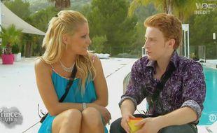 Céline et Anthony pendant le tournage de l'émission «Les Princes de l'amour».