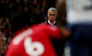 José Mourinho abattu lors de Manchester United-Tottenham (0-3), le 27 août 2018.