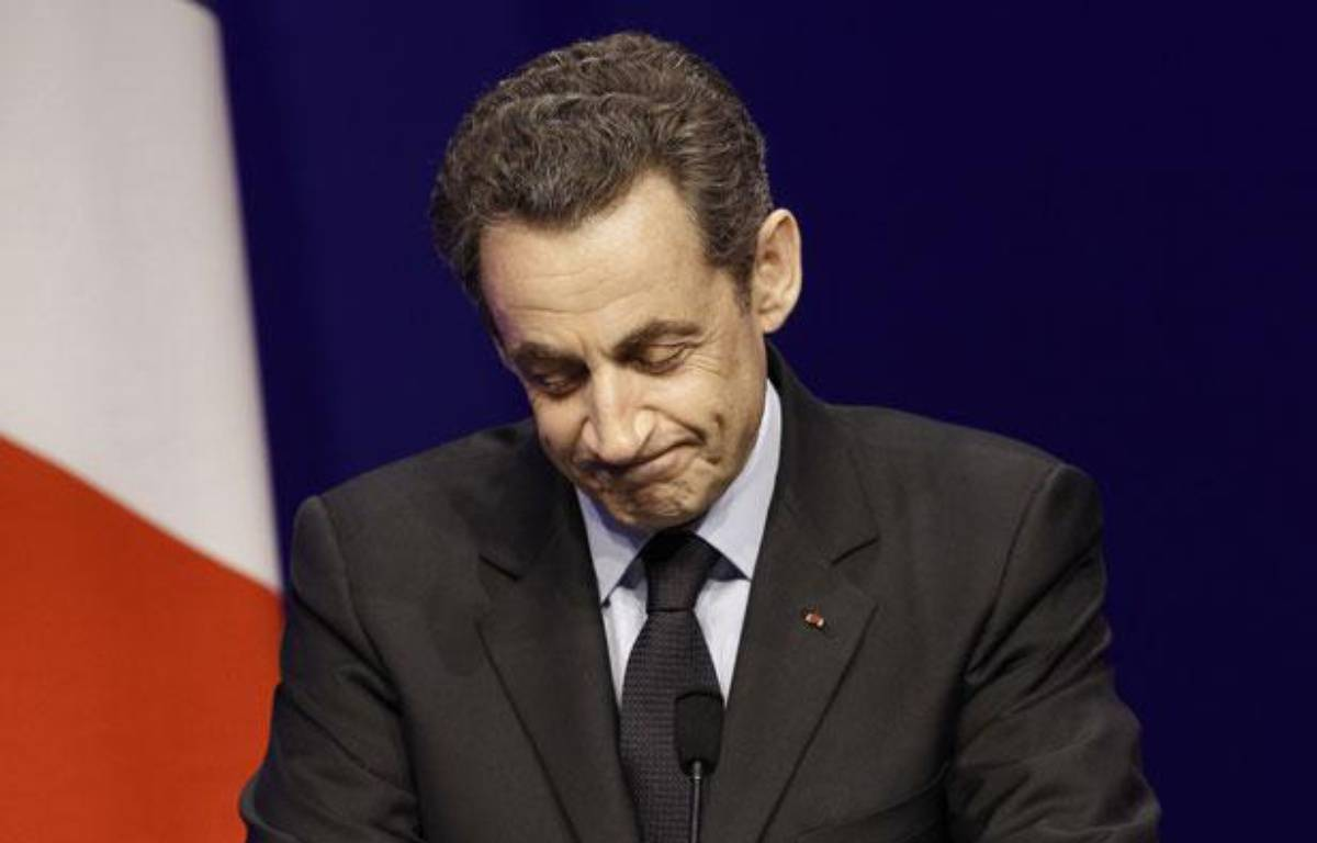 Nicolas Sarkozy le 22 avril 2012, à la Mutualité. – K.TRIBOUILLARD / AFP