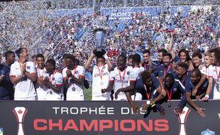 Le PSG avait remporté le Trophée des champions 2015 face à Lyon, le 1er août 2015 à Montréal.