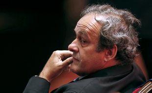 Michel Platini, le président de l'UEFA, le 28 août 2015, à Monaco.