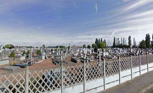 Le cimetière d'Onnaing, dans le Nord.