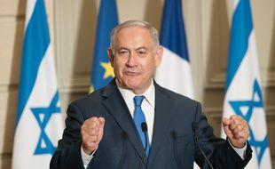 Le premier ministre israélien Benjamin Netanyahou lors d'une visite à Paris en 2018. (archives)
