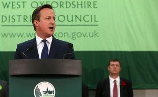 Le Premier ministre britannique David Cameron a été réélu dans sa circonscription, le 8 mai 2015.