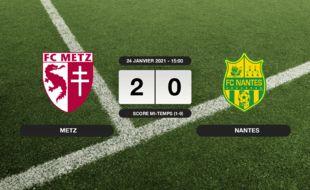 Metz - FC Nantes: Succès 2-0 de Metz face au FC Nantes