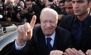 Béji Caïd Essebsi, aka BCE, chef du parti laïc Nidaa Tounès, le 23 novembre 2014.