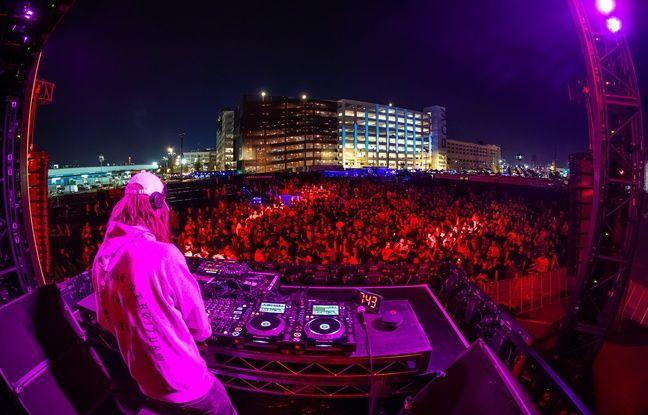 Le DJ français Busy P au festival AMF, à Los Angeles, le 19 octobre 2019.