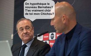 Ca a chauffé dans le téléphone du président du Real Madrid à propos de Mbappé pendant le match entre le PSG et le Barça.