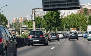 Le boulevard périphérique parisien. (illustration)