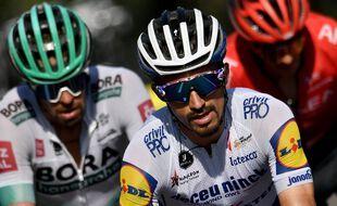 Julian Alaphilippe, ici lors de la 16e étape mardi dans le Vercors. Marco Bertorello / AFP)