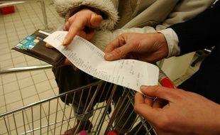 Illustration ticket de caisse