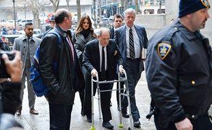 Le producteur Harvey Weinstein à son arrivée au tribunal de Manhattan le 6 janvier 2020