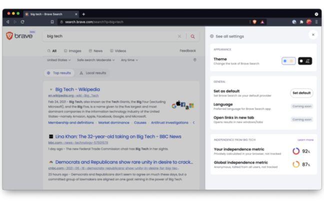 Brave, le moteur de recherche qui mise sur la confidentialité et le payant
